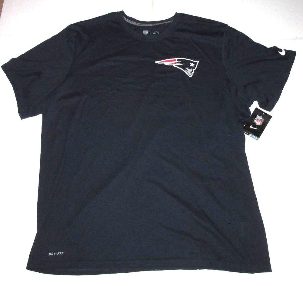 Nike NFL New England Patriots Logo Dri-FIT Mens Shirt 2XL Navy  Nike   NewEnglandPatriots 1b3ca0e3c