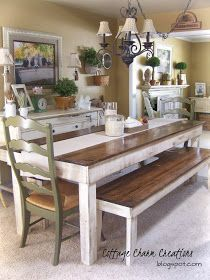 Cottage Charm Creations: Custom Built Furniture Long Farm Table Seat 8 12  Depending On Length. Benches Or Chairs??