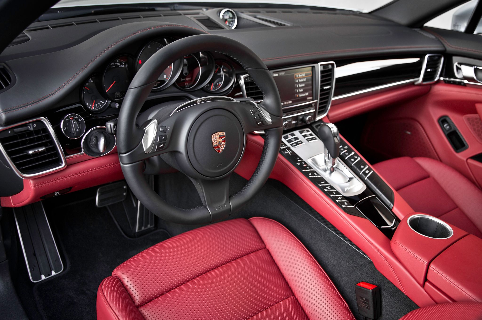 porsche panamera white interior. porsche reveals panamera executive with exclusive carmine red white interior