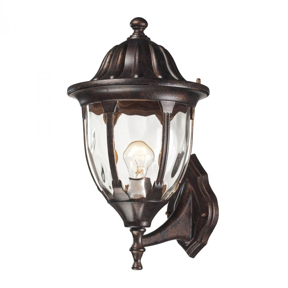 This one light wall lantern is part of the glendale collection and