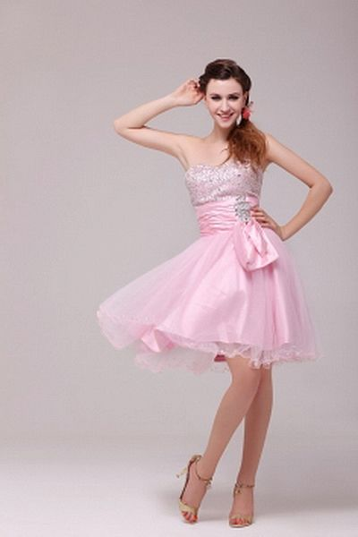 Weekly Special Product: Rosa Tüll A-Line Abendkleid ma2522 - Order ...