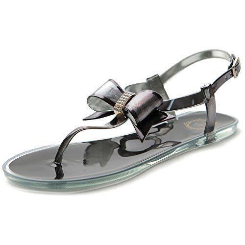 1914bbf1efbe89 Ollio Women s Shoe Ribbon Thong Ankle Strap Flip Flop Jel...  https   www.amazon.com dp B00ZSV47NM ref cm sw r pi dp x wYpwzb5FQH575