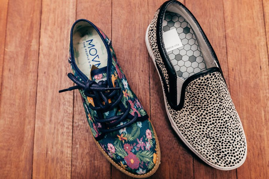 """The People's Movement Bali oxfords and Dolce Vita """"Zoren"""" wedge sneaker."""