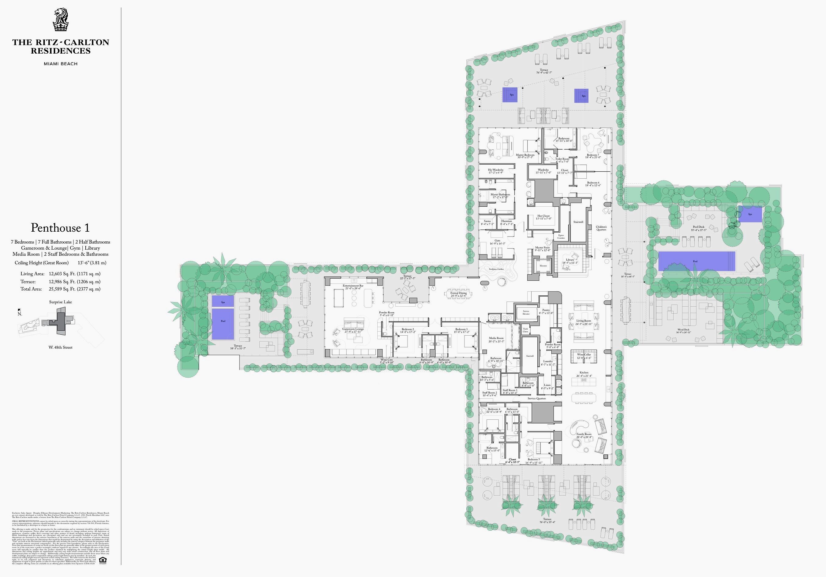 The Ritz Carlton Residences Miami Beach Full Floor Penthouse 1 Miami Beach Condo Miami Beach Luxury Condo
