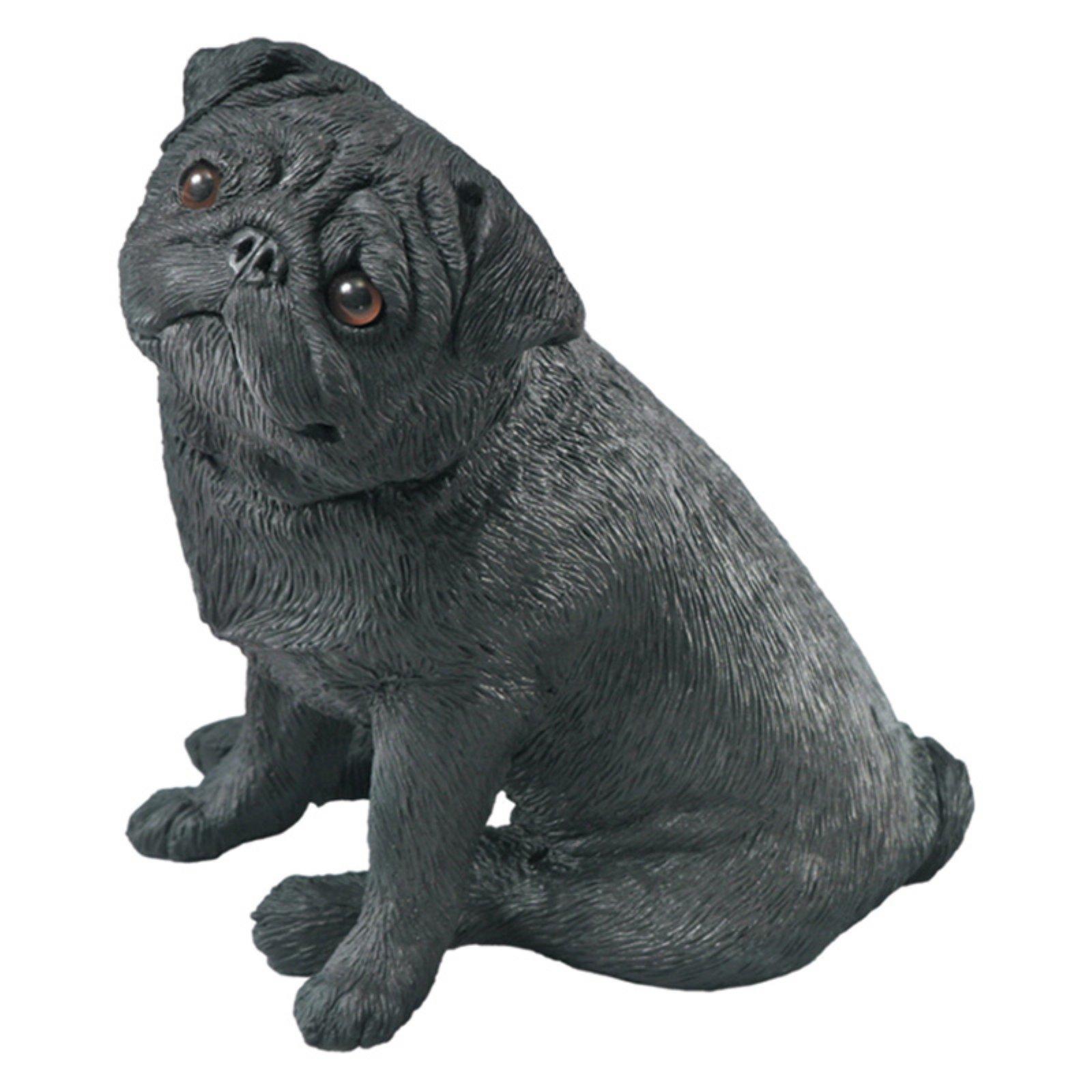 Sandicast Mid Size Black Pug Sculpture in 2019 Dog