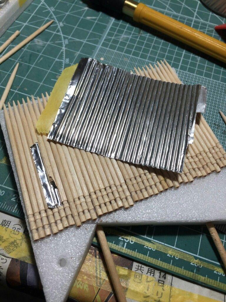 波板 トタン クラフトのアイデア ドールハウス クラフト