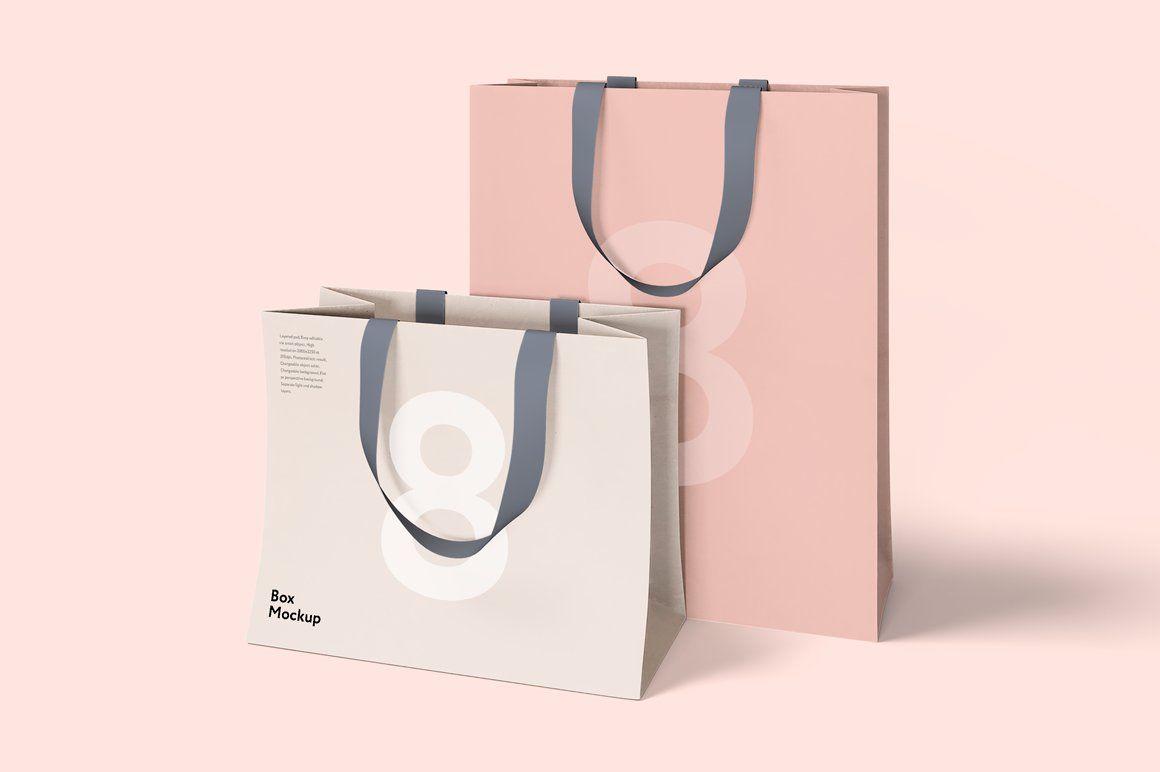 Download Box And Bag Mock Up Set 8psd Bag Mockup Packaging Mockup Box Mockup