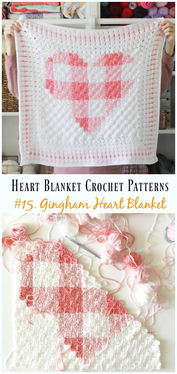 Heart Blanket Crochet Patterns Free and Paid | Knit yeah ...