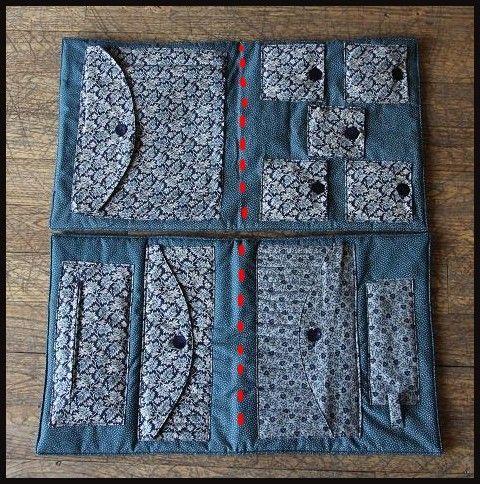 Tuto rangement pour mat riel tricot mon atelier pinterest mat riel rangement et la laine - Tuto sac tricot en tissu ...
