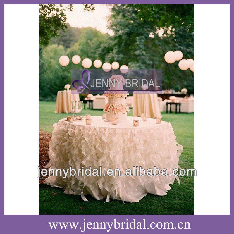 tc091e new sale popular white tulle table skirting designs for