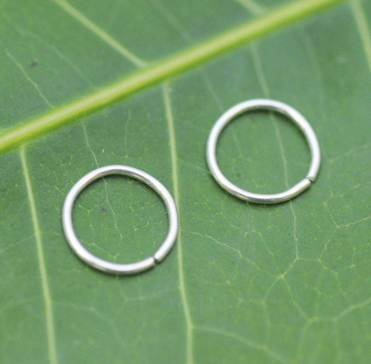 Extra Small Sterling Silver Hoop Earrings By Holylandstreasures
