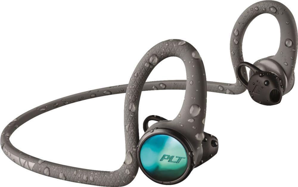 Plantronics Backbeat Fit 2100 Wireless Earbud Headphones Gray 212201 99 Workout Headphones Earbud Headphones Wireless Earbuds