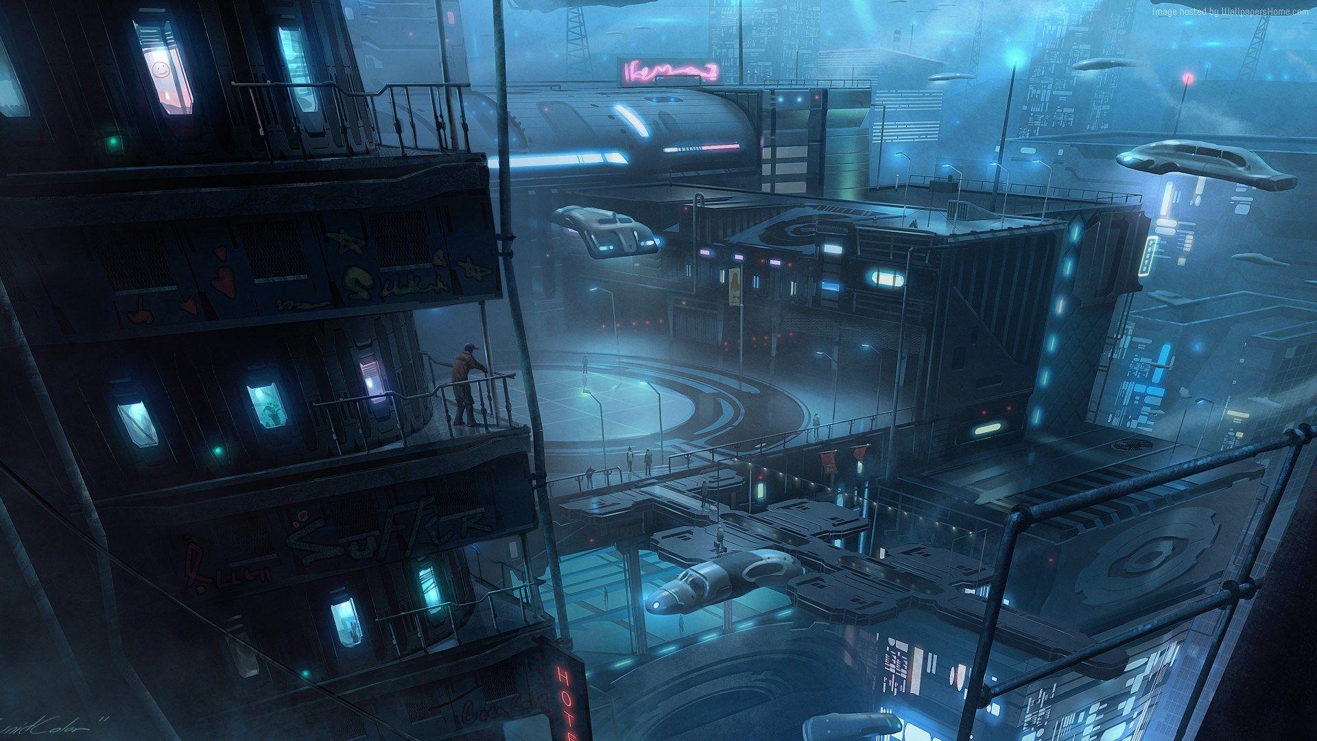 Shadowrun Hong Kong Wallpaper Art Futuristic City Cyberpunk City Underground Cities