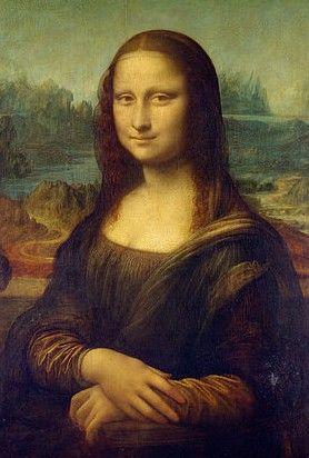 """Obra: """"Gioconda"""" Autor: Leonardo Da Vinci Periodo: Renacimiento (Cinquecento) Situada en el Louvre, es un óleo sobre tabla de álamo empleando una técnica muy conocida por Da Vinci; """"sfumato""""."""