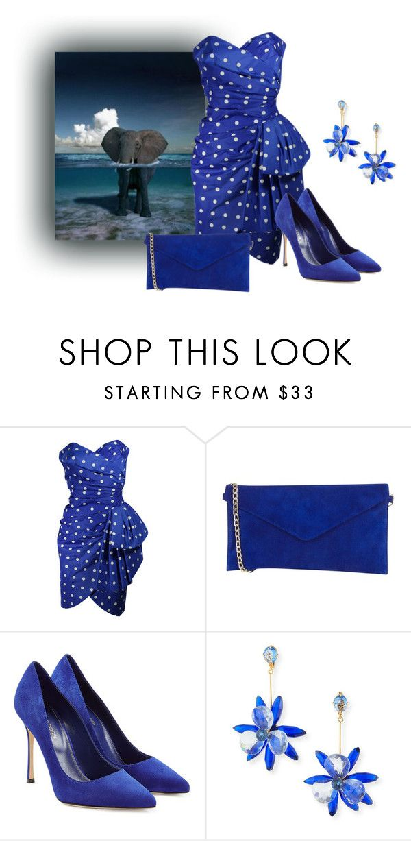 """""""Taking A Swim"""" by sjlew ❤ liked on Polyvore featuring Victor Costa, Oasis, Sergio Rossi and Kate Spade"""