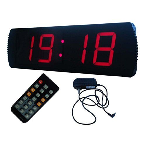 Led Large Digital Clock 4 High Character Led Countdownup Clock Operated By Remote Control Visit The Image Link More Large Digital Clock Clock Digital Clocks