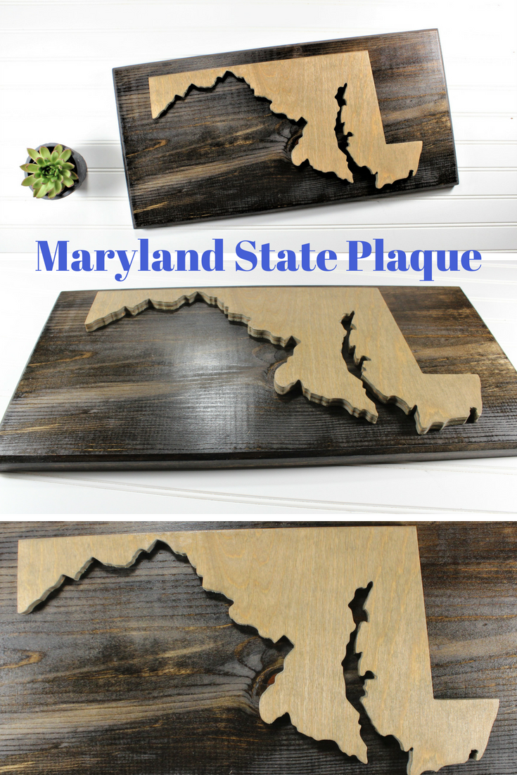 Maryland state sign plaquestate pride wall decorcustom wood state