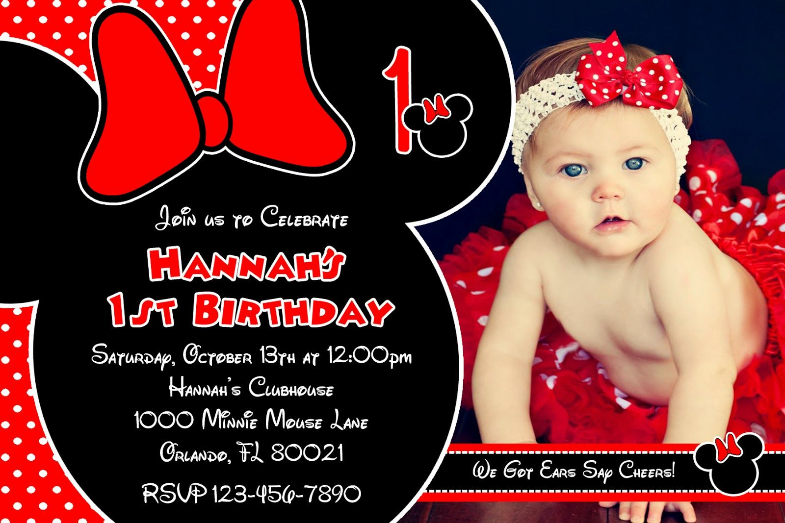 Invitation Minnie Mouse Red | Minnie | Pinterest | Minnie mouse ...
