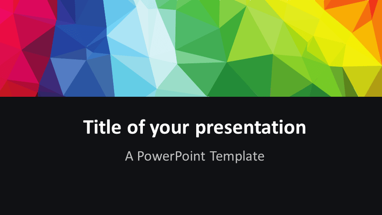 Modern polygons powerpoint template presentationgo template free modern colorful polygons powerpoint template widescreen toneelgroepblik Choice Image