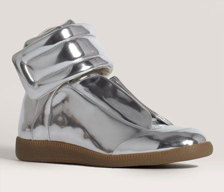 hi-top sneakers - Metallic Maison Martin Margiela Best Place Sale Online Outlet Big Sale Free Shipping New And Fashion pIa64dAjY