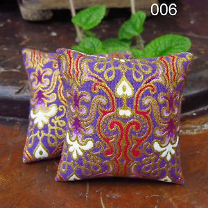 miniature dollhouse paintings | Thai Painting Miniature Decorative Pillow Throw Cushion Dollhouse 1 ...