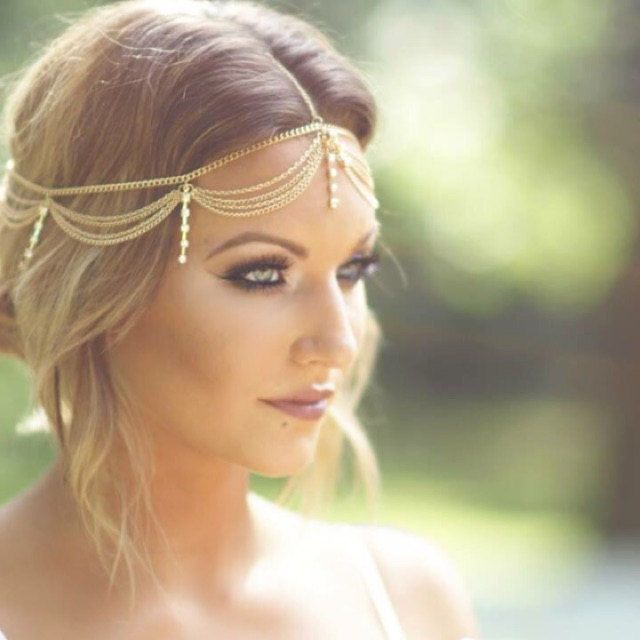 Rose Gold /& Gold Boho Chic Hair Chain