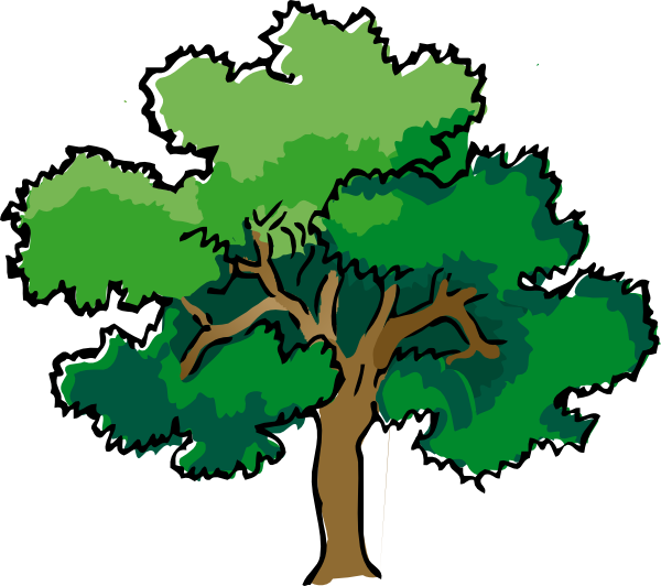 Style Guide Clker Tree Outline Tree Art Tree Clipart
