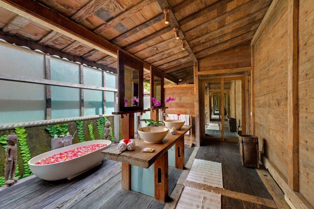 Honeymoon Bali Villas Outdoor Bathrooms Bungalow Design Luxury Villa Rentals