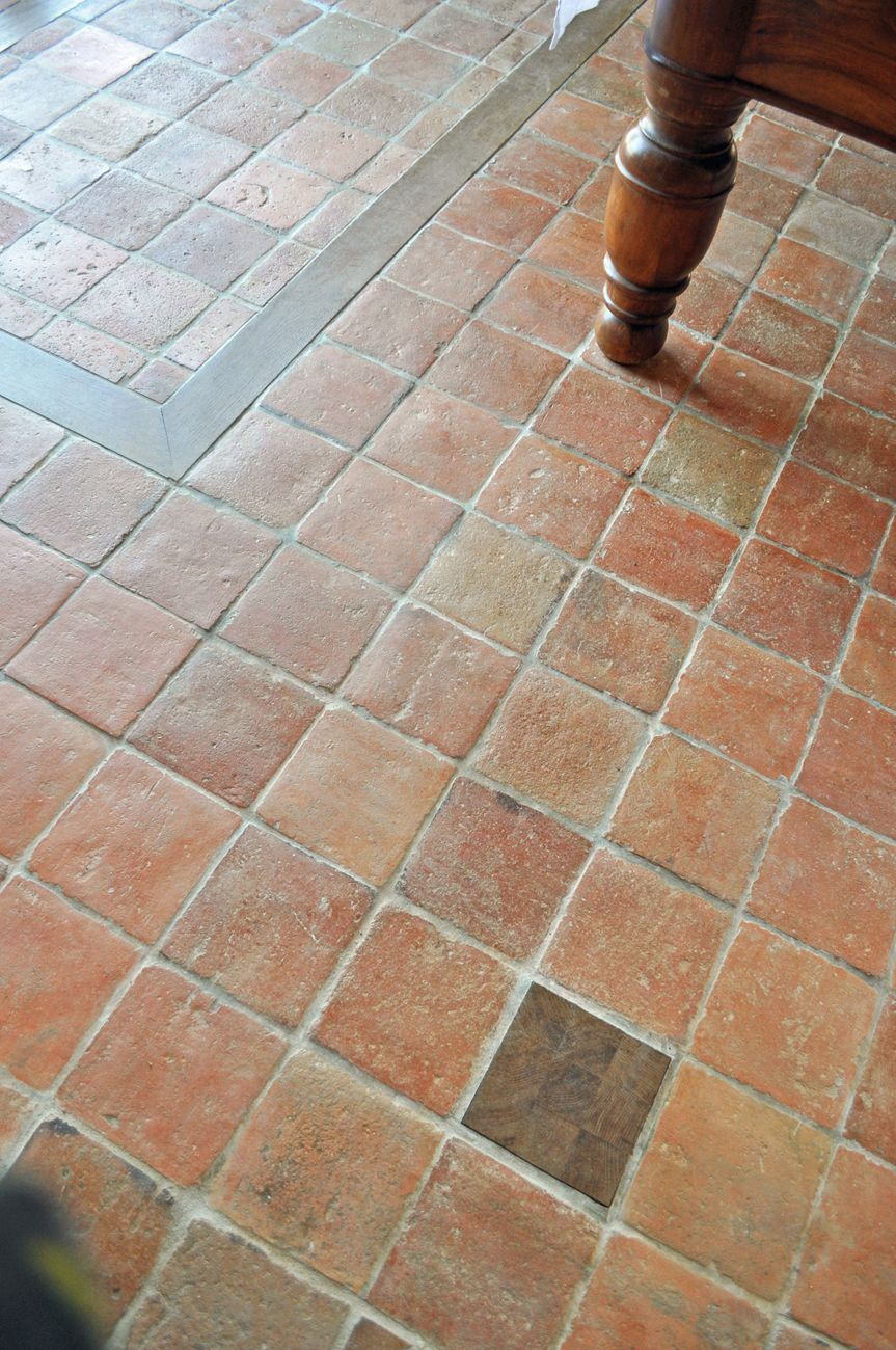 Antique Normandy Terracotta A Reclaimed 18th Century Floor Tiles
