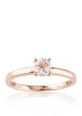 Belk  Co.  10k Rose Gold Morganite Solitaire Ring