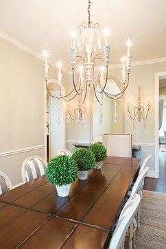 BM Revere Pewter  Crest Court - traditional - dining room - houston - Amanda Carol Interiors