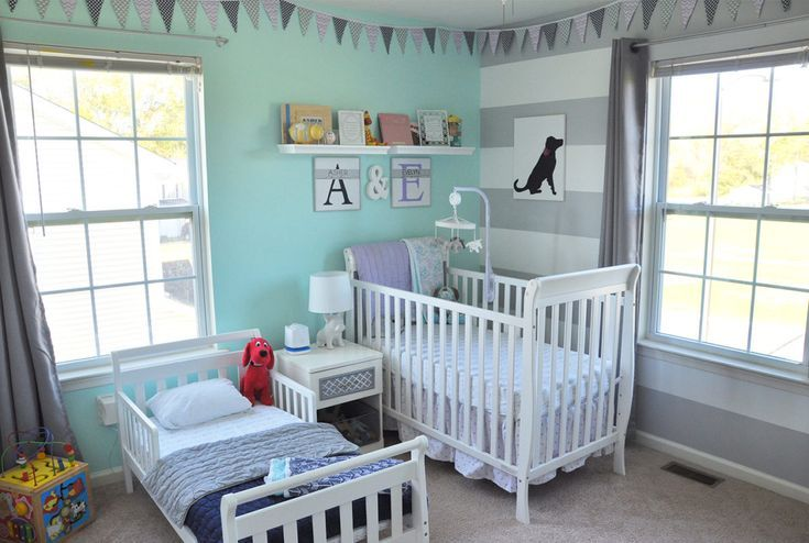 Shared Boy Girl Toddler and Nursery Room images