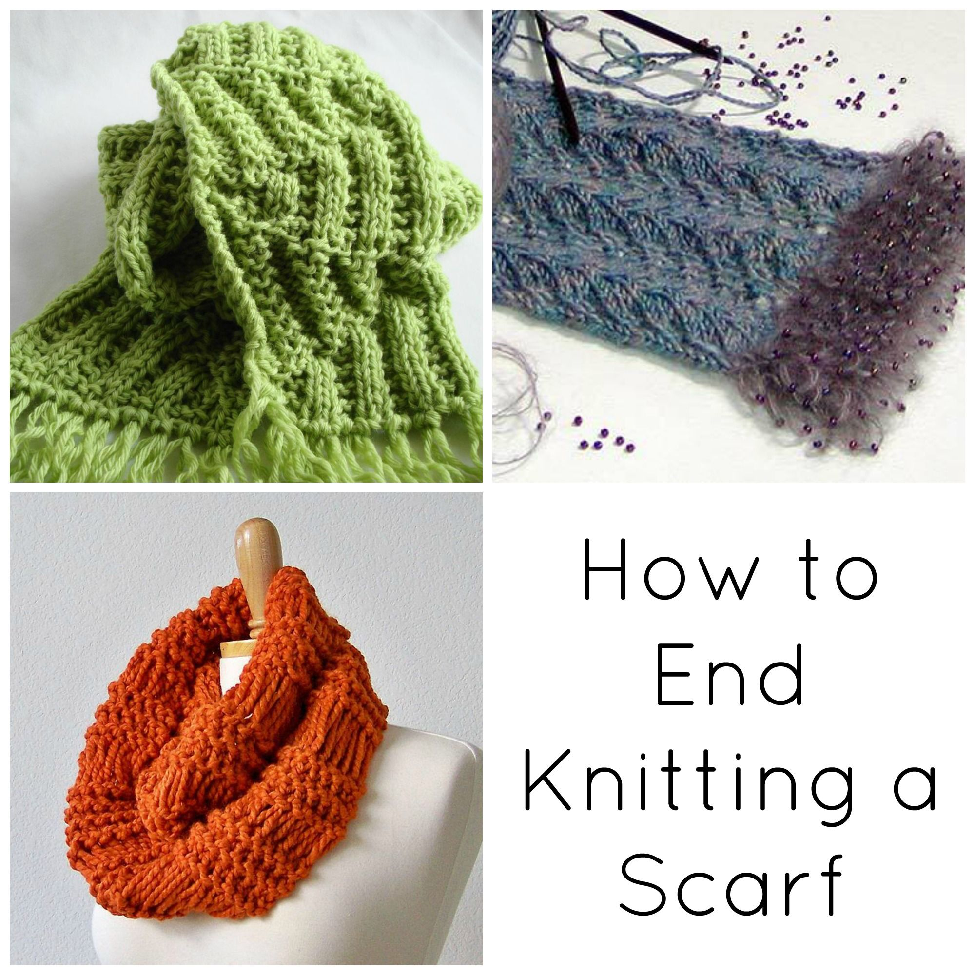 Bind-Off Basics: How to End Knitting a Scarf | Tejido
