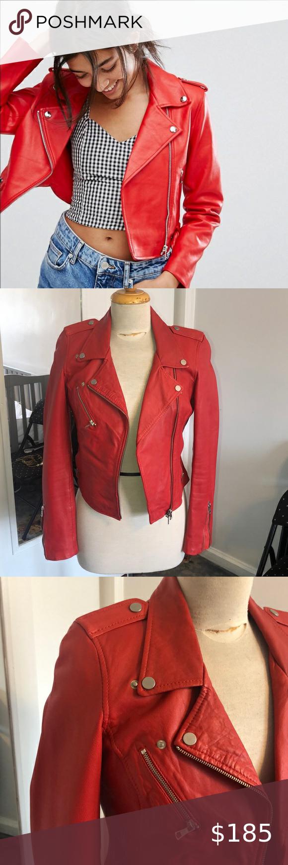 Zara Red Leather Jacket Zara Leather Jacket Cropped Faux Leather Jacket Red Leather Jacket [ 1740 x 580 Pixel ]