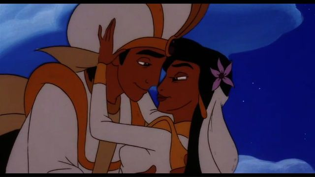 Aladdin And Jasmine S Wedding At The End Of Aladdin And The King