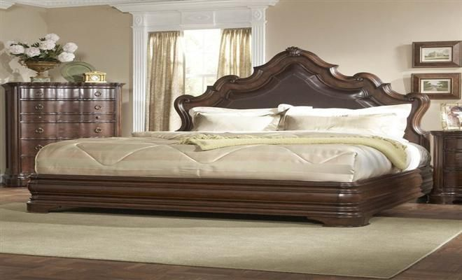 King Size Bed Leather Upholstered Designs At Home Design