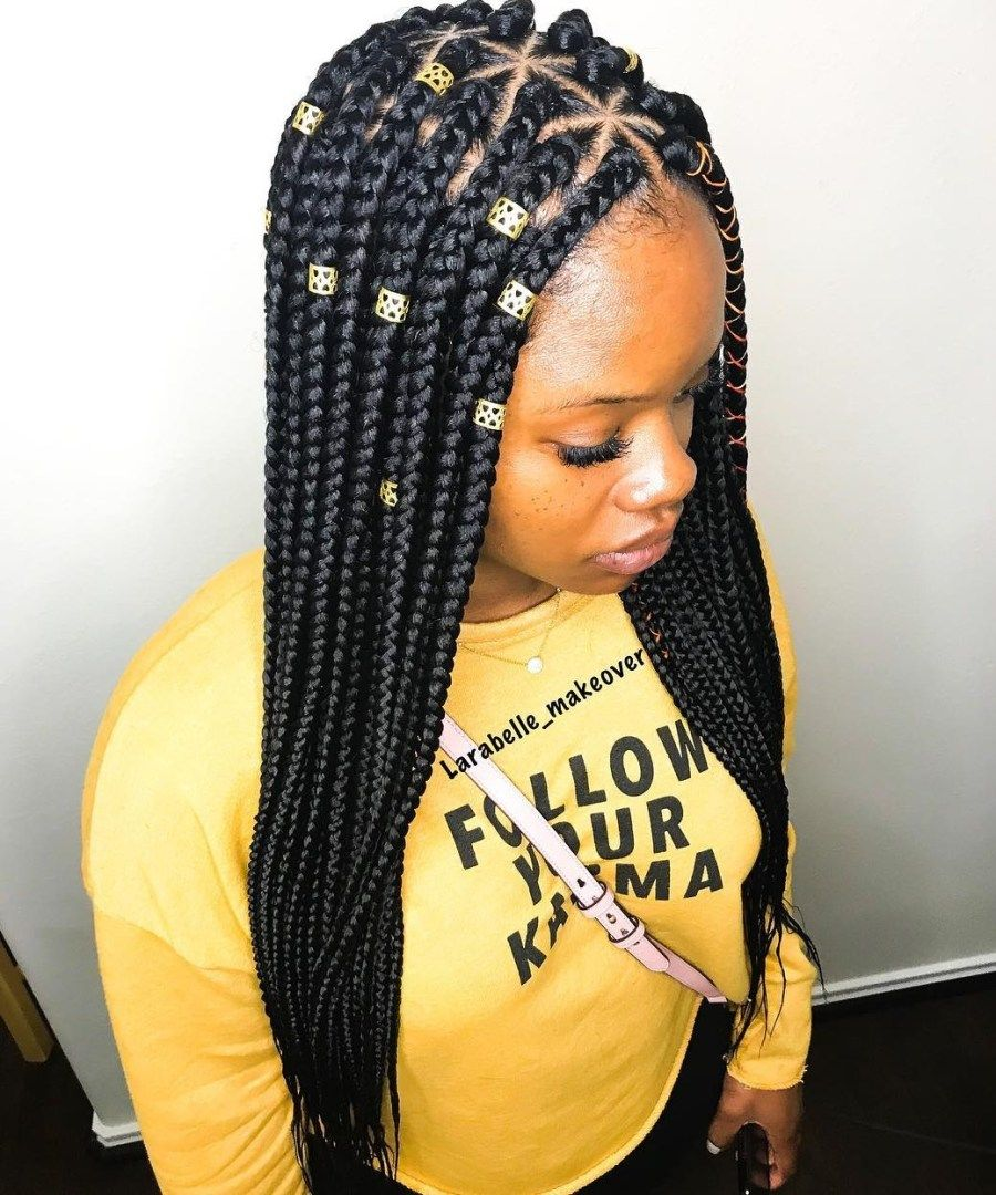 Triangle Braids Taking Your Box Braids to the Next Level