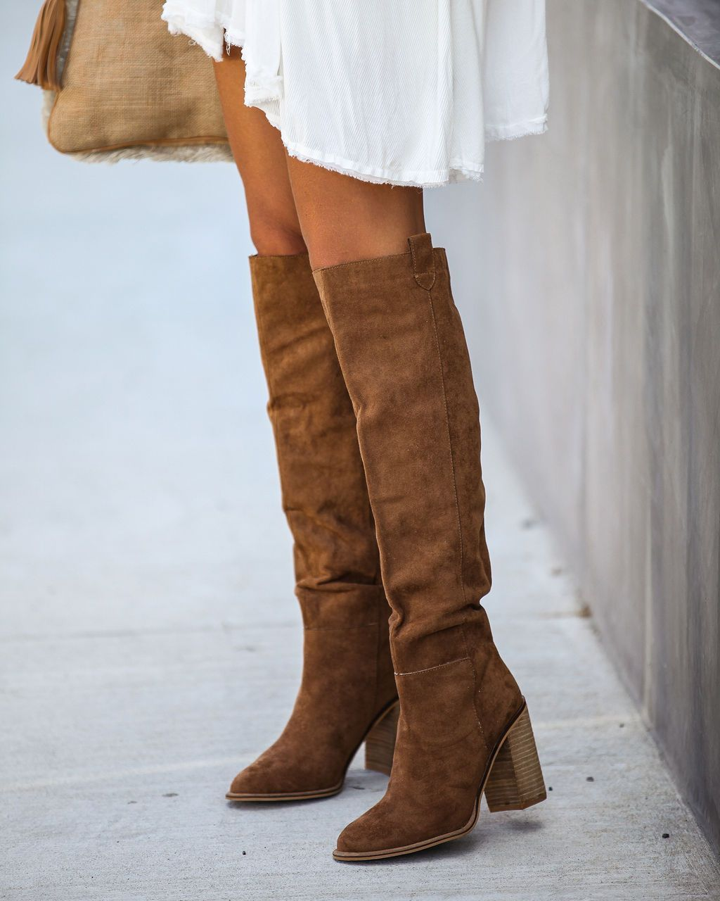Leather Boots Eu 37 Camel brown genuine leather womens boots With Heels Knee hight leather boots Tall boots Chunky heel