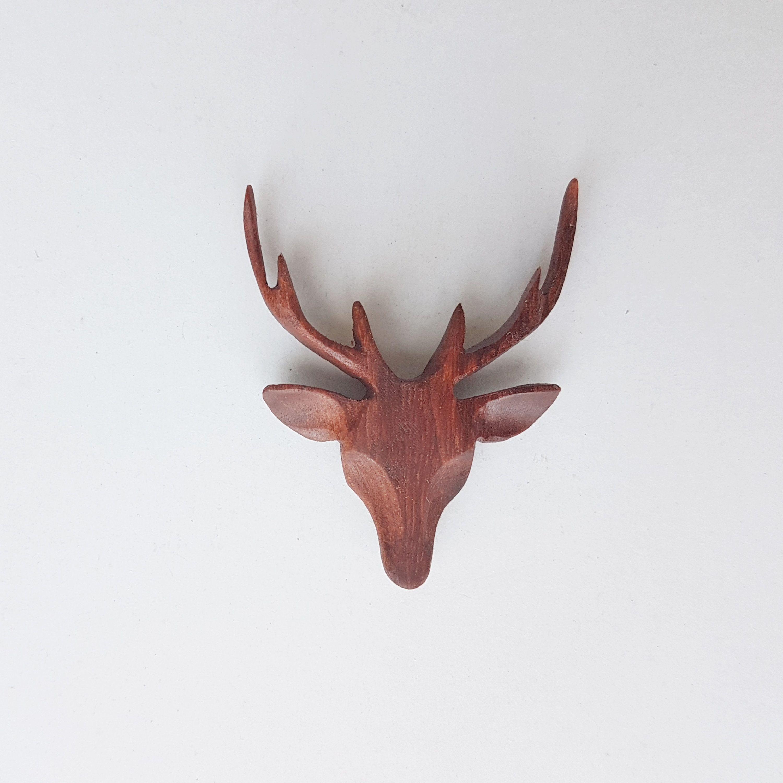 Carved Elk Horn Owl Men/'s Pendant