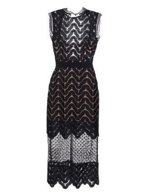 c7437d3e28c6f Open-back wave-lace midi dress