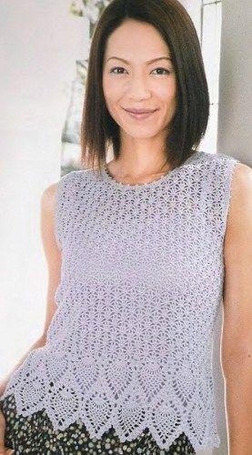 Crochet top blouse tunic pattern diagrams pattern pdf | Tunic ...
