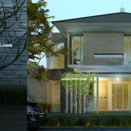 Desain Rumah Mewah 2 Lantai Modern Tropis Minimalis House