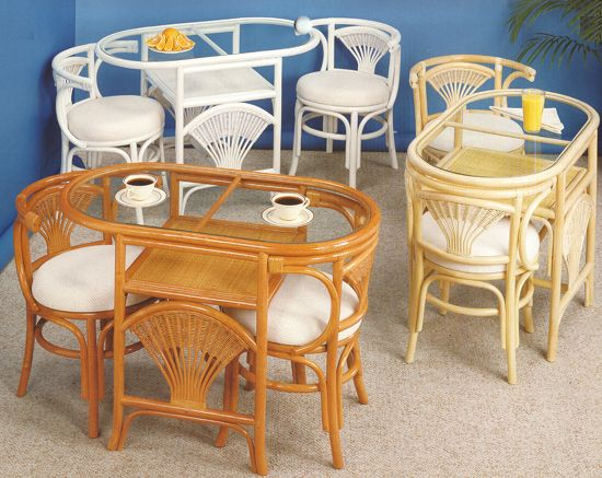 Liberty Rattan Stained Dining Suite