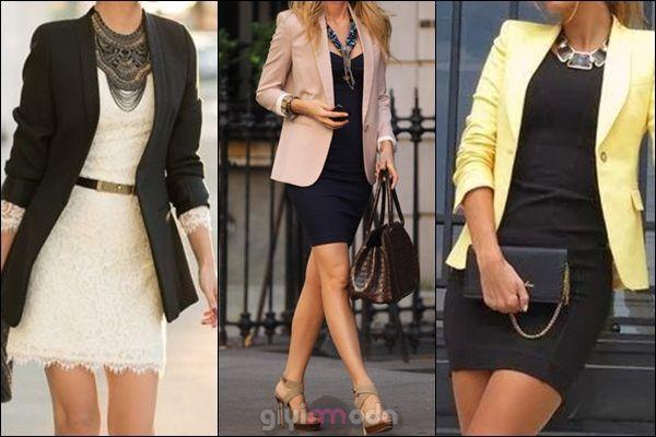 Blazer Ceket Elbise Kombini Blazer Ceket Elbise
