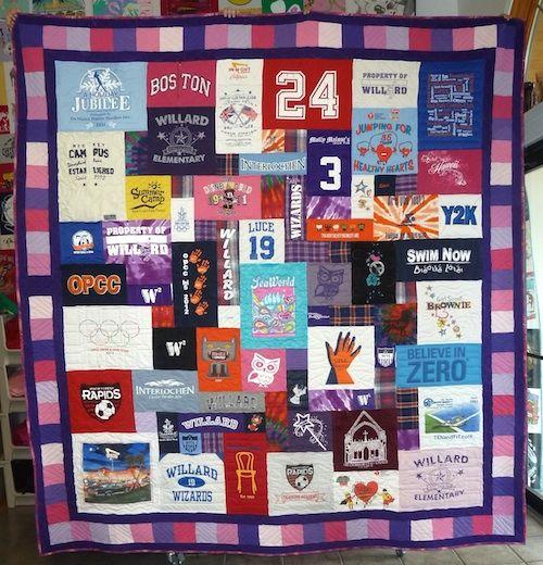 Photographs Of T Shirt Quilts Tee Shirt Quilt Quilting Stitch Patterns Shirt Quilt