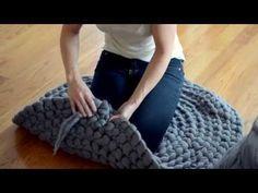Este método te ayudará a tejer un tapete sin ganchillo