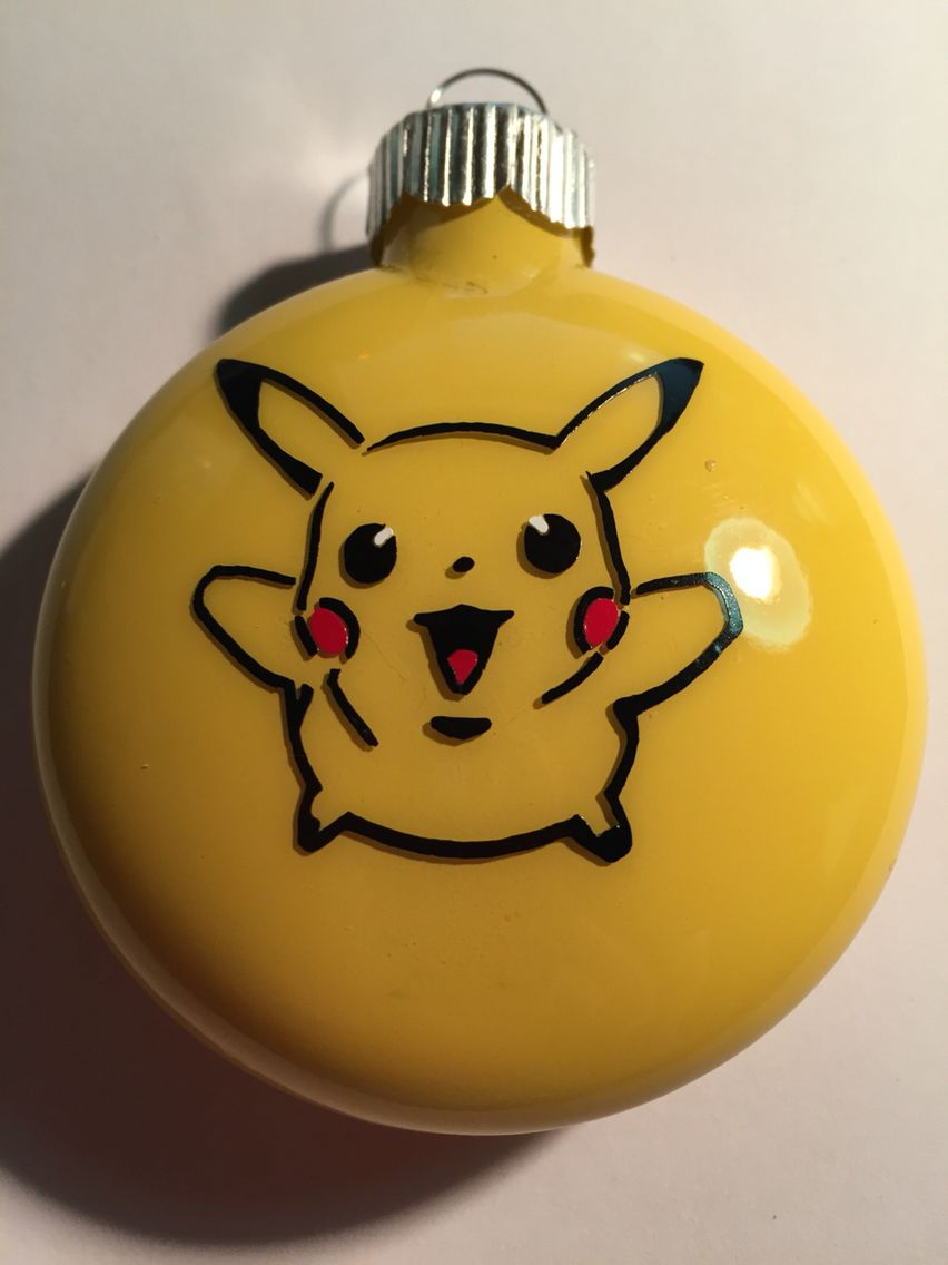 Pikachu Christmas Ornament.Pokemon Pikachu Ornament Silhouette And Cricut Creations