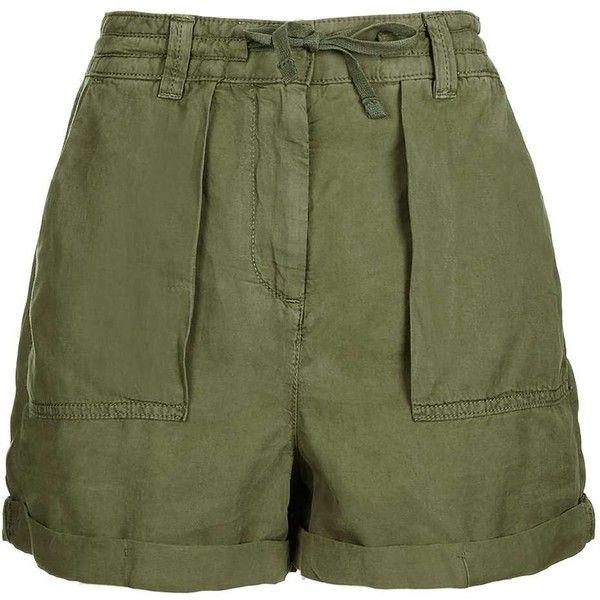 Topshop Utility Safari Shorts (554.370 IDR) ❤ liked on Polyvore ...