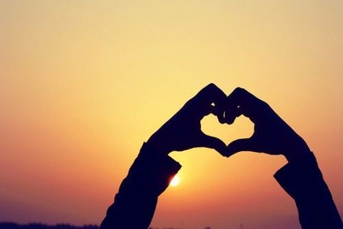 Pin On Tumblr Photography Hand shaped love wallpaper in sunset