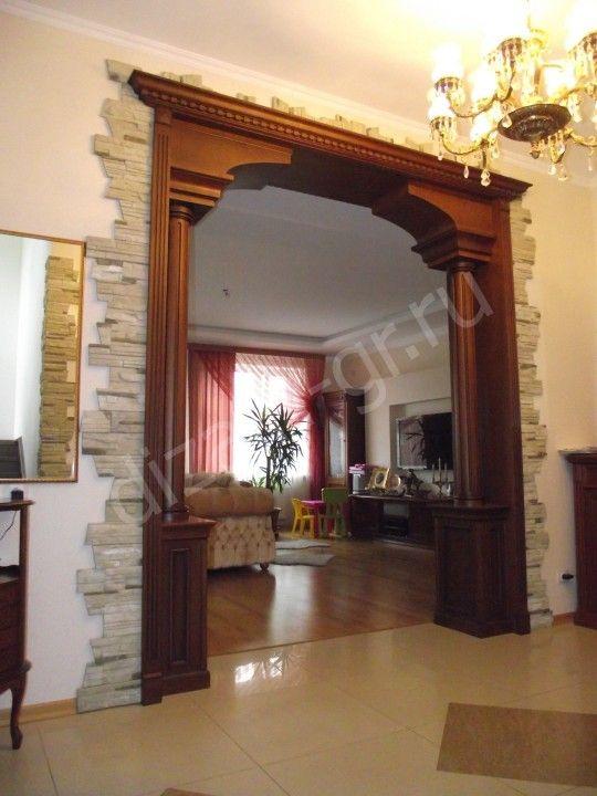 Wood trim detailing trim - Decoracion columnas salon ...